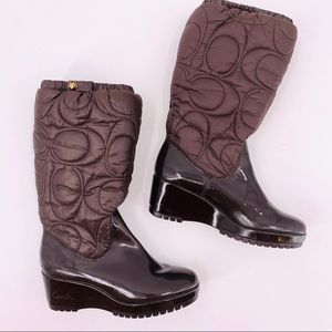 Coach Signature Cantina Winter Puffer Boots